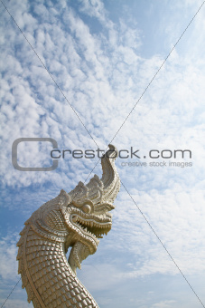Naga white against the backdrop of the sky.