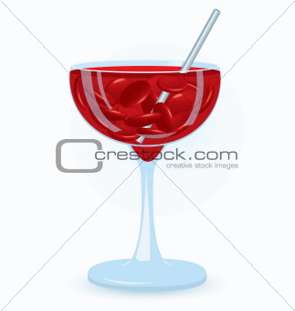 Blood cells drink vector
