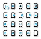 Smartphone / mobile or cell phone icons set