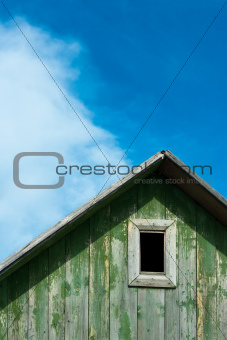 Attic of an Old Wooden House