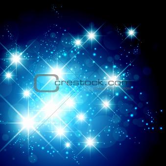 Bright Star Holiday Background