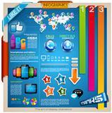 Modern Infographic design elements set