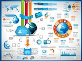 Infographics Elements for cloud computing graphs