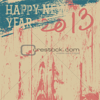 2013 New Year background retro styled. Vector, EPS8.