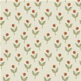 Plant with red berry. Seamless pattern, vector, EPS10