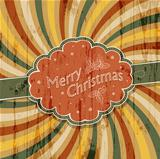 Merry Christmas background with colorful rays background, vector