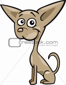Chihuahua dog cartoon illustration