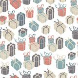 Gift boxes seamless pattern. VEctor illustration, EPS8