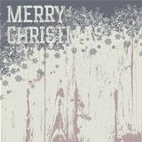 Merry christmas greetings on wooden background. Vector illustrat