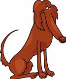 irish setter dog cartoon illustration