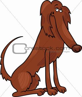 irish setter dog cartoon illustration