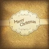 Vintage Christmas card in golden gamut. Vector illustration, EPS