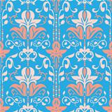 Rococo Seamless Pattern Vector