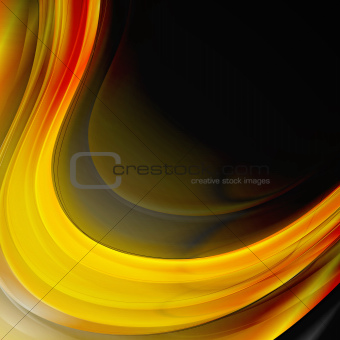 Abstract wavy design. Vector background