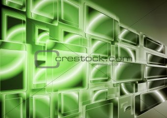 Bright green technology design. Vector