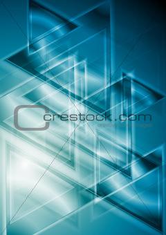 Bright blue vector design