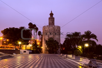 Torre del Oro - Golden Tower in Sevilla