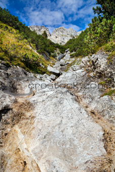 stones and rocks in Alps
