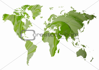 Abstract green map