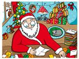 Santa Claus reading messages