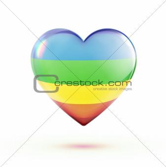 Multicolored heart shape