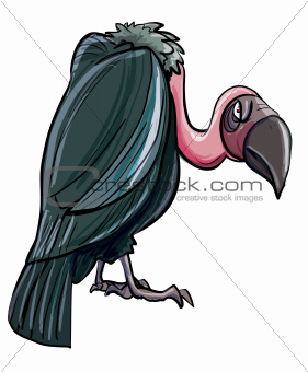 Cartoon evil looking vulture