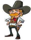Carton cowboy with goatee