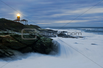 Beavertail Lighthouse at Dawn