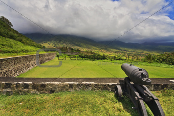 Cannon at Fort Brimstone, St Kitts