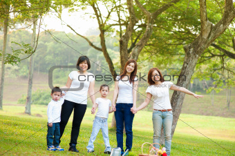 Outdoor fun family