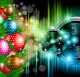 Christmas Club Party Background
