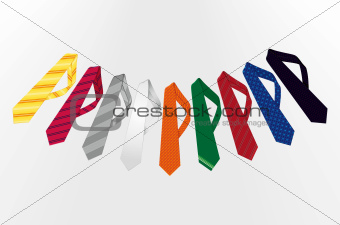 A collection of colorful patterned ties