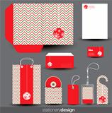 Christmas stationery design set