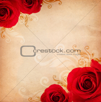 background with roses