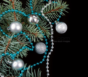 Black Christmas background