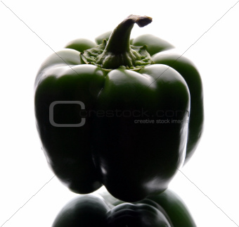 bell pepper on a mirror