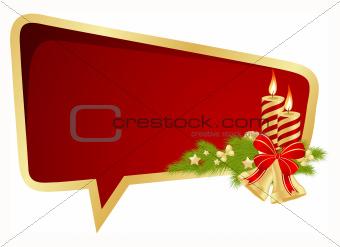 Christmas bubble speech