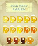 Vintage Beer Card. Lager.