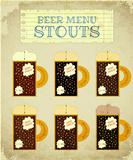 Vintage Beer Card. Stouts.