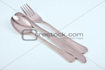 Cutlery in a row