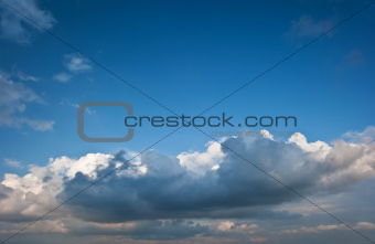 Stunning blue sky cloud formations