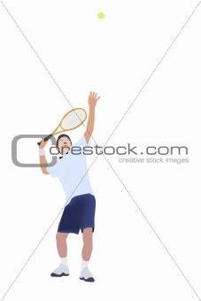 Vector and illustration of Tennis player