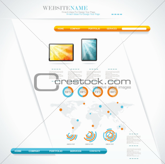 modern web site editable template