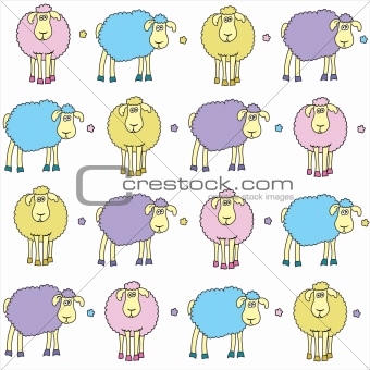 Sheep colored