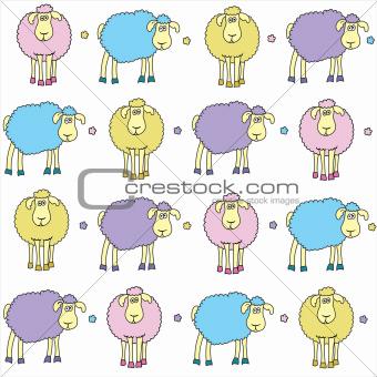 Sheep colored