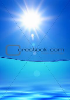 water under sun