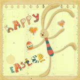 Retro Easter Card with Bunny