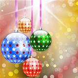 Merry Christmas and Happy New Year abstract background