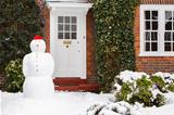 Snowman in garden