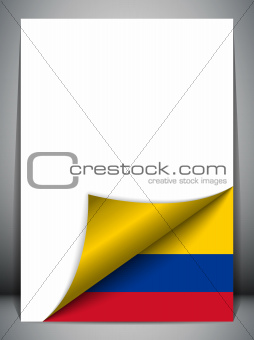 Colombia Country Flag Turning Page